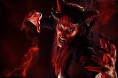 Портрет дьявола Стоковые Изображения