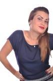 Портрет элегантной женщины с красной губной помадой стоковые фото