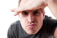 Портрет любознательного молодого человека стоковые изображения rf