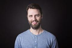 Портрет люди с бородой и усиком внутри Стоковая Фотография