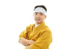 Портрет японского шеф-повара Стоковая Фотография RF