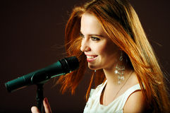 портрет девушки блестящий Стоковая Фотография RF
