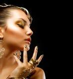 Портрет девушки способа Стоковая Фотография RF