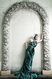 портрет девушки древности привлекательный красивейший Стоковые Изображения RF