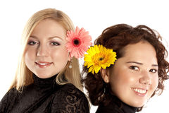 портрет 2 девушок Стоковое фото RF