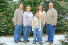 портрет 2 семей Стоковое Изображение