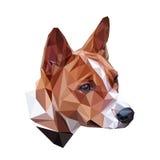 Портрет Basenji полигональный Стоковое Изображение RF