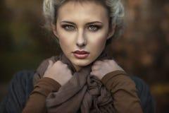 портрет blondie милый стоковое изображение