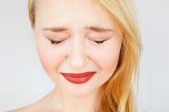 Портрет carroty плача женщины Стоковое Изображение RF