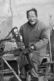 Портрет chuckler деревни счастливого стоковое изображение rf