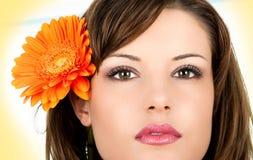 Портрет Close-up красивейшей женщины. стоковое изображение rf