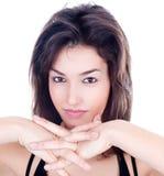 Портрет Close-up сексуальной кавказской молодой женщины стоковое фото
