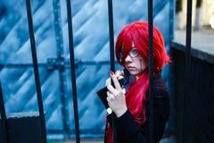 Портрет cosplay девушки Стоковое фото RF