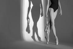 Портрет cropping балерины ног грациозно Стоковая Фотография RF
