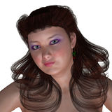 Портрет Curvy женщины Стоковое Изображение