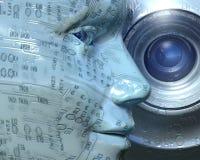 портрет cyber Стоковая Фотография RF