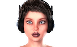 портрет 3D подростка Стоковые Изображения