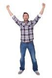 Портрет excited человека среднего возраста Стоковые Фотографии RF