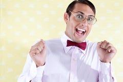 Портрет excited чокнутого человека Стоковые Фотографии RF