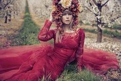 Портрет Fantsatic дамы Лета Стоковое Изображение RF