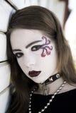 портрет goth подростковый стоковое изображение