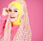 Портрет hijab красивой женщины нося Стоковые Изображения