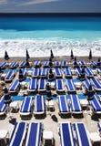 портрет loungers пляжа Стоковое Изображение