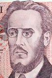 Портрет Ludwik Warynski от польского старого 100 злотых Стоковое Изображение