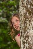 Портрет m за деревом 4 Стоковые Изображения