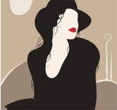 портрет madame Стоковые Изображения RF