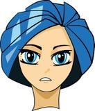 портрет manga Стоковое Изображение