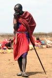 портрет masai Стоковое Изображение
