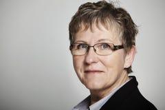 Портрет middle-aged женщины Стоковые Фотографии RF