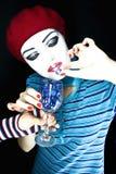 портрет mime девушки стоковая фотография rf