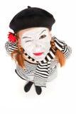 портрет mime комедийного актера Стоковые Изображения