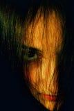 портрет misterios девушки Стоковая Фотография RF