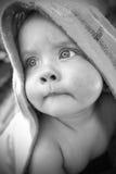 портрет monochrome младенца Стоковые Изображения