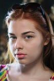 Портрет red-haired девушки стоковое изображение rf