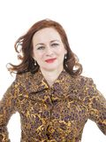 Портрет red-haired женщины стоковое изображение