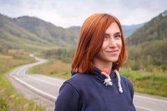Портрет red-haired женщины стоковые изображения
