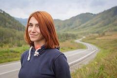 Портрет red-haired женщины стоковые изображения rf