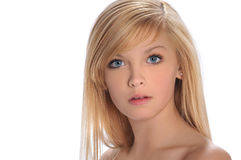 портрет s девушки предназначенный для подростков стоковые фото