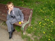 портрет s мальчика Стоковые Изображения