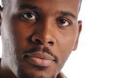 портрет s чернокожего человек Стоковая Фотография RF