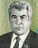 Портрет Saparmurat Niyazov от 10 тысяч маната Туркменистана Стоковые Фото