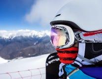 Портрет snowboarder женщины Стоковые Изображения