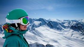 Портрет snowboarder Стоковая Фотография