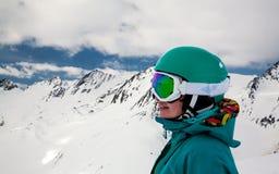 Портрет snowboarder Стоковые Изображения