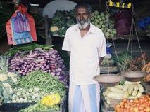 Портрет Vegetable предпринимателя стойла в Шри-Ланке Стоковое Фото