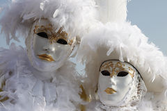 портрет venice маски пар Стоковые Фотографии RF